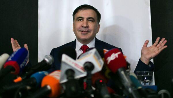 Michaił Saakaszwili w Warszawie - Sputnik Polska