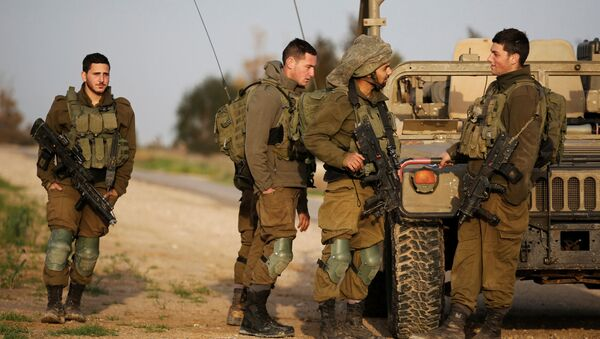 Izraelscy żołnierze na granicy ze Strefą Gazy - Sputnik Polska