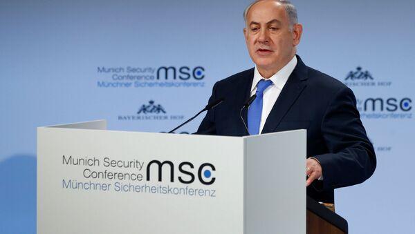 Premier Izraela Benjamin Netanyahu na 54. Monachijskiej Konferencji Bezpieczeństwa - Sputnik Polska