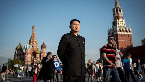 Sobowtór Kim Dzong Una w Moskwie - Sputnik Polska