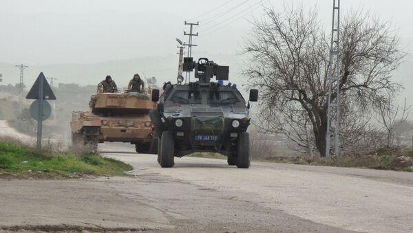 Turecki sprzęt wojskowy używany w operacji w Afrinie - Sputnik Polska