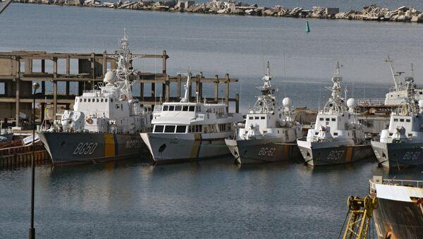 Statki ukraińskiej straży wybrzeża w porcie odeskim - Sputnik Polska