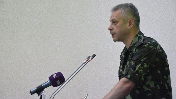 Przedstawiciel centrum informacyjnego Rady bezpieczeństwa narodowego i obrony Ukrainy Andrej Łysenko - Sputnik Polska