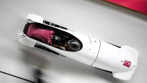Drużyna bobslejowa z Rosji na igrzyskach Olimpijskich w Pjongczangu 2018 - Sputnik Polska