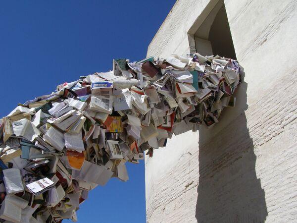Rzeźba z książek Alicii Martin w Hiszpanii - Sputnik Polska