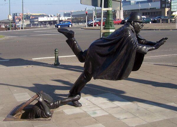 Rzeźba De Vaartkapoen w Belgii - Sputnik Polska