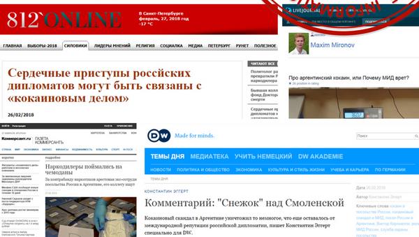 Zrzut strony internetowej z rozdziału Przyklady publikacji szerzących nieprawdziwe informacje na temat Rosji na stronie MSZ - Sputnik Polska