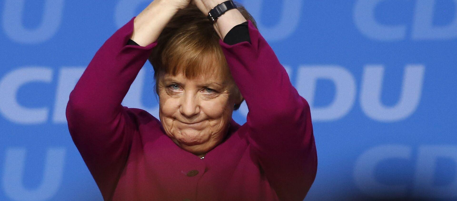 Kanclerz Niemiec Angela Merkel na zjeździe CDU - Sputnik Polska, 1920, 19.05.2018