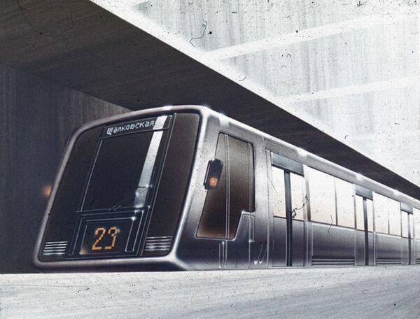 """Przez wiele lat w moskiewskim metrze kursowały identyczne pociągi. Autorzy projektu pociągów metra """"Srebrna nić"""" w 1987 roku zaproponowali cztery rodzaje wagonów. Na linii pierścienia, która łączy stołeczne dworce, miały jeździć wagony z wydzielonymi miejscami na bagaż. Zaprojektowano też wagon """"szczyt"""" z miejscami stojącymi w godzinach szczytu oraz wagon """"cięciwa"""", który otwierał się jednocześnie z obu stron. - Sputnik Polska"""