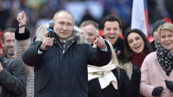 Koncert-miting poparcia dla Władimira Putina, stadion Łużniki w Moskwie - Sputnik Polska