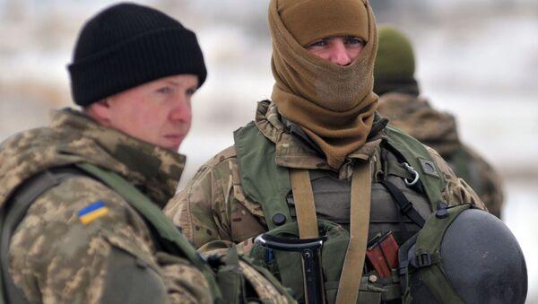 Żołnierze Sił Zbrojnych Ukrainy. Zdjęcie archiwalne - Sputnik Polska