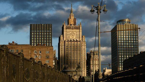 Widok na budynek Ministerstwa Spraw Zagranicznych Federacji Rosyjskiej w Moskwie - Sputnik Polska