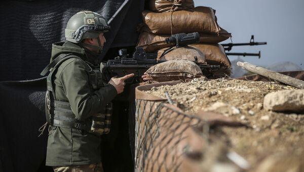 Turecki żołnierz, okolice Afrinu - Sputnik Polska