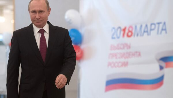 Kandydat na prezydenta Rosji - Władimir Putin - Sputnik Polska