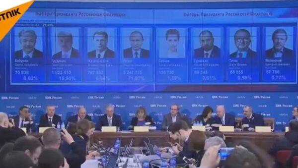 Pierwsze wyniki wyborów prezydenckich 2018 - Sputnik Polska