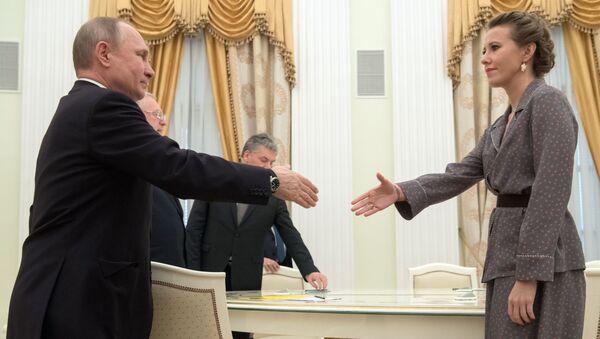 Władimir Putin i Ksenia Sobczak - Sputnik Polska
