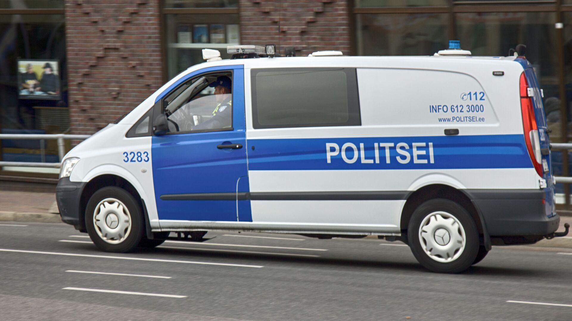 Samochód policyjny w Tallinnie - Sputnik Polska, 1920, 07.08.2021