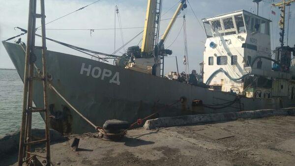 """Zatrzymany statek rybaki """"Nord"""" na ukraińskich wodach terytorialnych Morza Azowskiego - Sputnik Polska"""