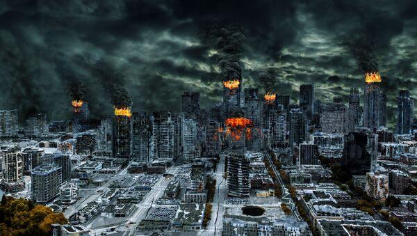 Obraz przedstawiający katastrofę światową - Sputnik Polska