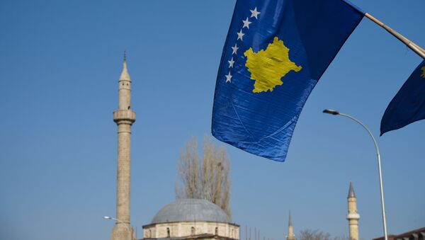 Flaga Kosowa - Sputnik Polska