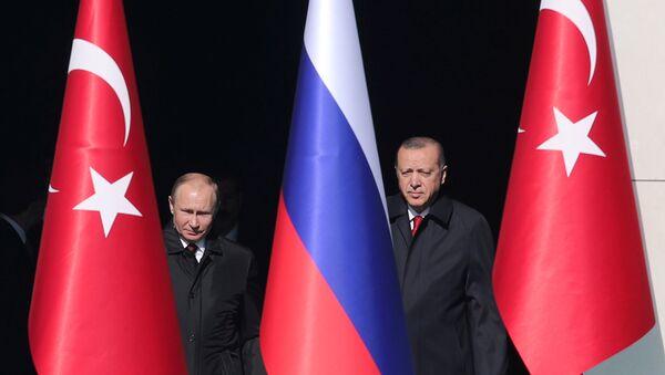 Prezydent Rosji Władimir Putin i prezydent Turcji Recep Tayyip Erdoğan - Sputnik Polska