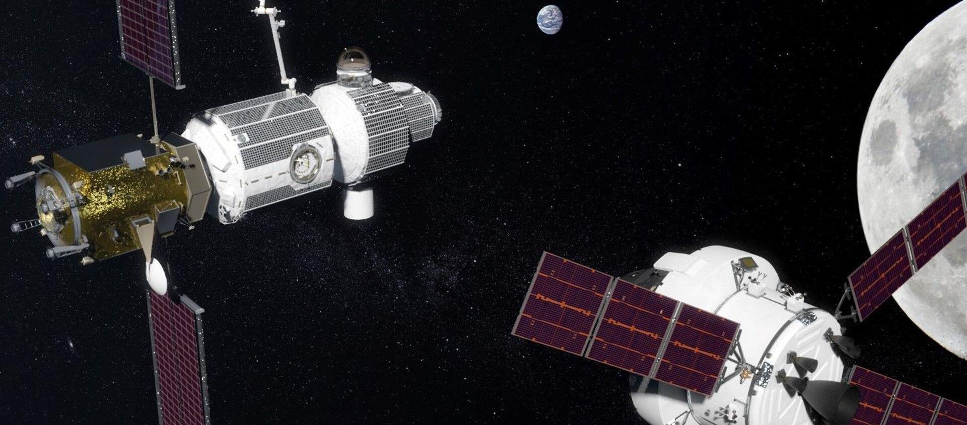 Międzynarodowa księżycowa stacja orbitalna Deep Space Gateway - Sputnik Polska, 1920, 26.02.2021