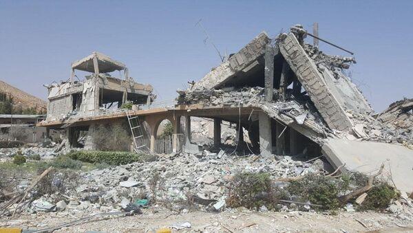 Rezultaty ostrzału Syrii pociskami manewrującymi koalicji - Sputnik Polska