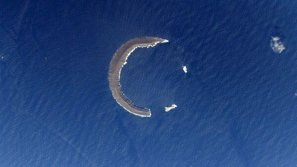Tortuga – wyspa na Morzu Karaibskim widziana z MSK - Sputnik Polska