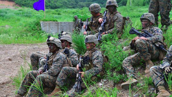 Amerykańscy żołnierze w Korei Południowej - Sputnik Polska