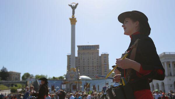 Demonstracja pierwszomajowa w Kijowie - Sputnik Polska