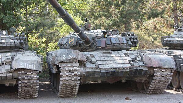 Porzucone przez gruzińską armię czołgi - Sputnik Polska