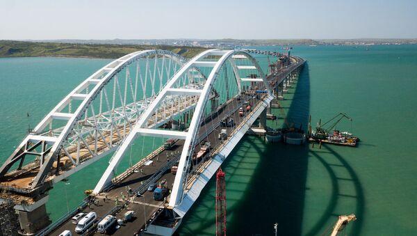 Budowa Mostu Krymskiego i podejść samochodowych ze strony Kraju Krasnodarskiego - Sputnik Polska