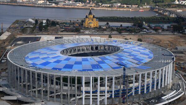 Строительство стадиона Нижний Новгород - Sputnik Polska