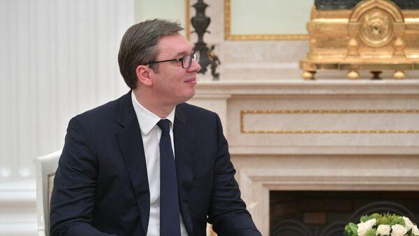 Prezydent Republiki Serbii Aleksandar Vučić - Sputnik Polska