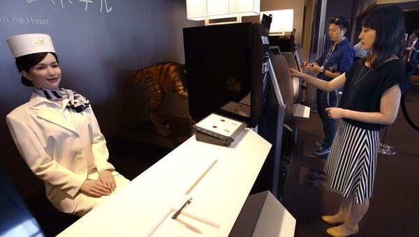 Robot recepcjonistka w Henn na Hotel, Japonia - Sputnik Polska
