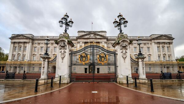 Buckingham Palace po deszczu - Sputnik Polska
