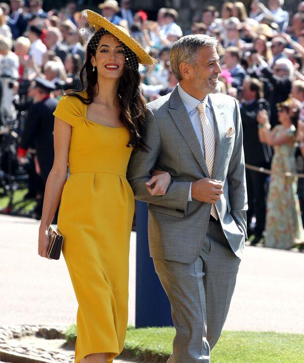 George i Amal Clooney - Sputnik Polska