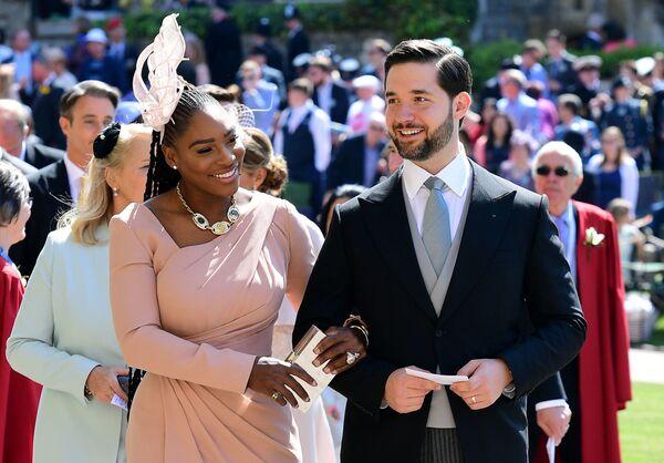 Serena Williams z mężem Aleksisem Oganianem - Sputnik Polska