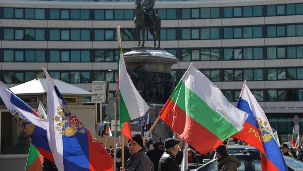 Flagi Rosji i Bułgarii - Sputnik Polska