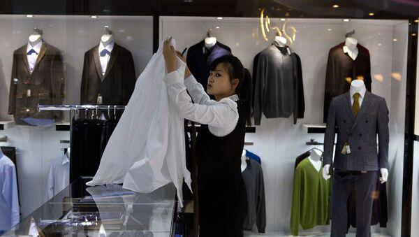 Luksusowy sklep odzieżowy w Pjongjangu - Sputnik Polska