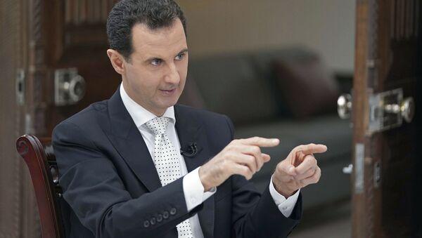 Prezydent Syrii Baszar Asad podczas wywiadu - Sputnik Polska