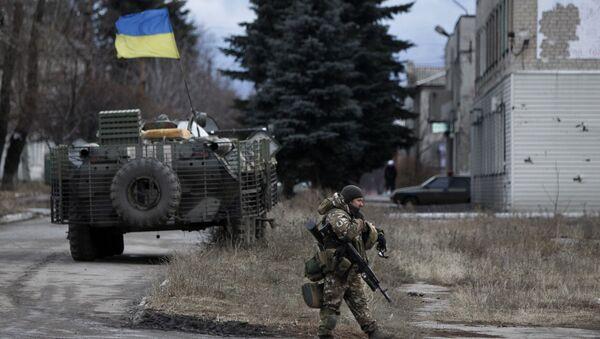 Ukraińscy wojskowi w obwodzie donieckim. Zdjęcie archiwalne - Sputnik Polska
