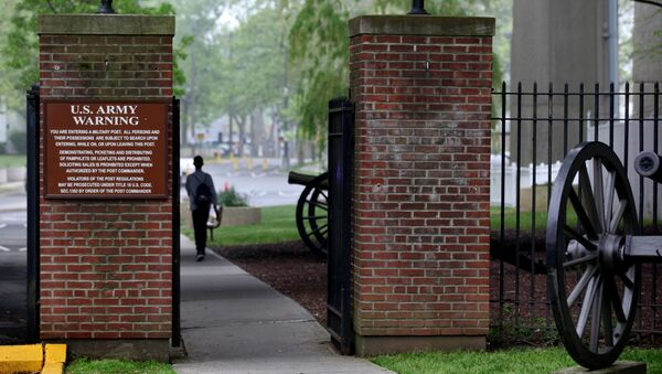 Wejście do bazy wojskowej Fort Hamilton w Nowym Jorku, USA. Zdjęcie archiwalne - Sputnik Polska