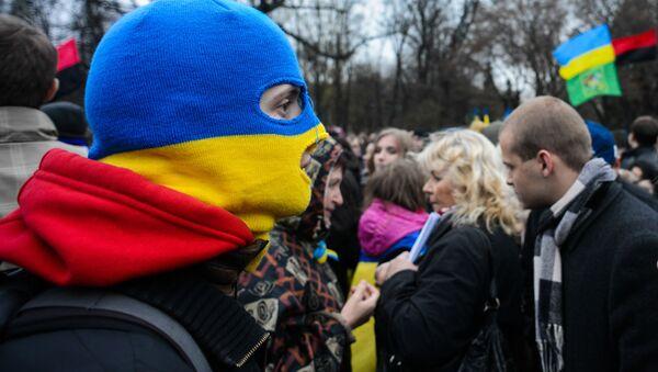 Miting poparcia Euromajdanu - Sputnik Polska