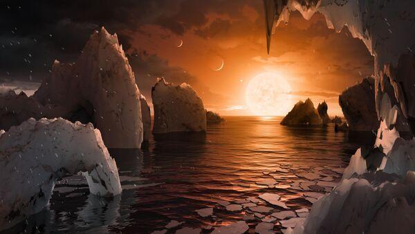 Artystyczne wyobrażenie powierzchni planety TRAPPIST-1 - Sputnik Polska