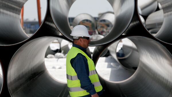 Rury przeznaczone do budowy Gazociągu Transatlantyckiego - Sputnik Polska