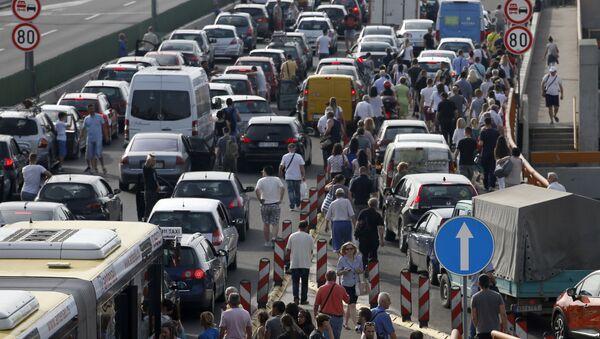 Protesty kierowców w Serbii - Sputnik Polska