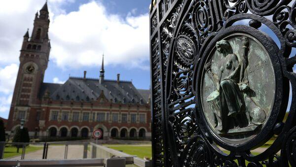 Pałac Pokoju w Hadze - oficjalna siedziba Międzynarodowego Trybunału Sprawiedliwości ONZ - Sputnik Polska