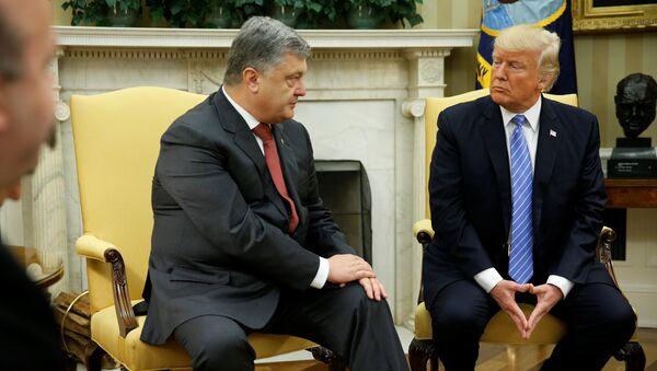 Donald Trump i Petro Poroszenko - Sputnik Polska
