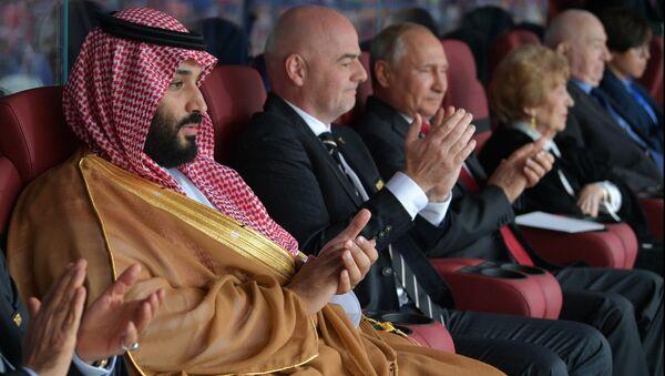 Mecz Rosja - Arabia Saudyjska na Mostrzostwach Świata w Piłce Nożnej 2018 - Sputnik Polska